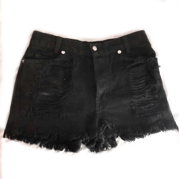 Brandy Melville Distressed Denim Shorts